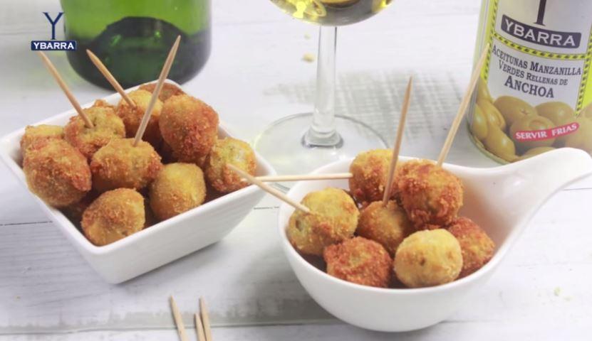 Receta aceitunas ybarra fritas con queso manchego ybarra en tu cocina - Judias verdes ybarra ...
