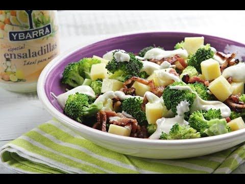 Ensalada de brócoli, bacon y queso con Salsa Especial Ensaladilla
