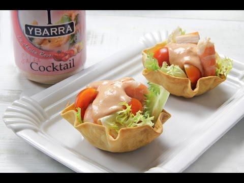Cestitas de cocktail de marisco - Aperitivos de mariscos ...