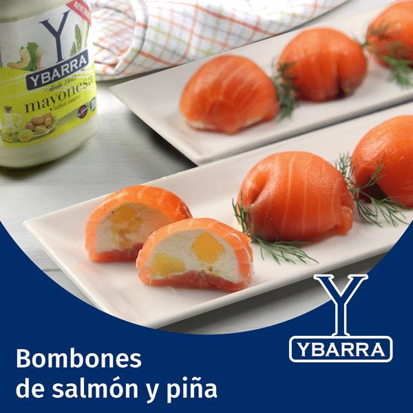 Bombones de salmón y piña
