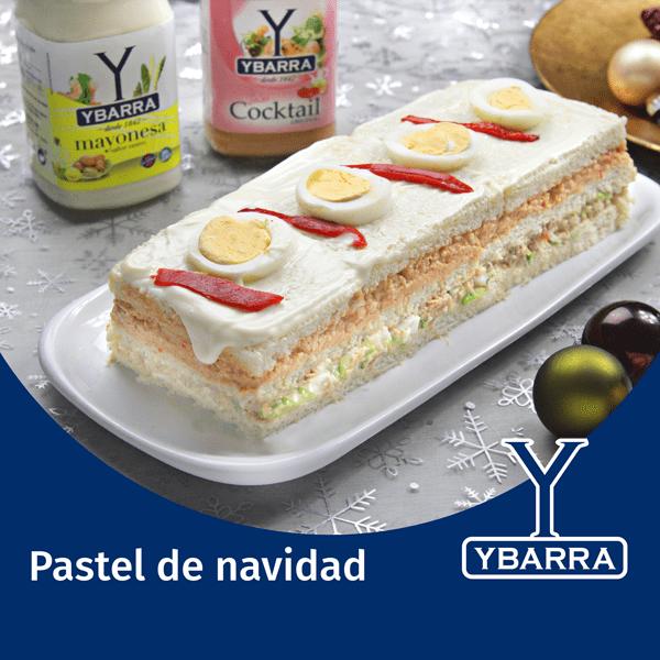 Pastel de Navidad con mayonesa y Cocktail Ybarra