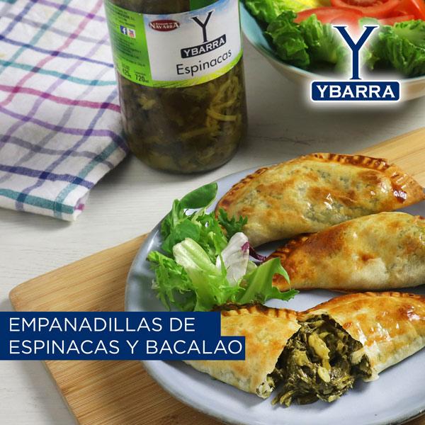 Empanadillas de espinacas con bacalao