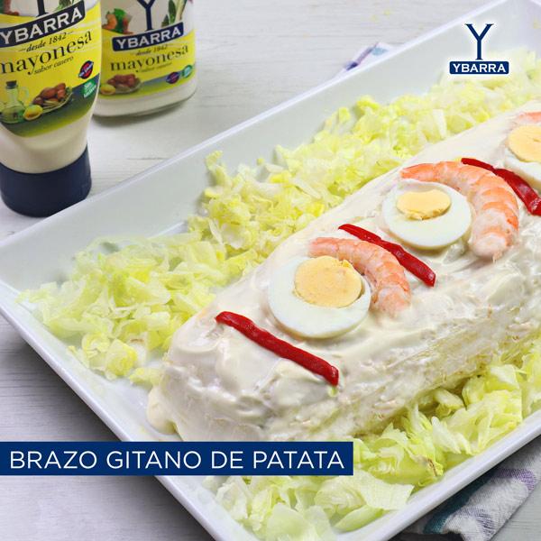 Brazo gitano de patata con mayonesa