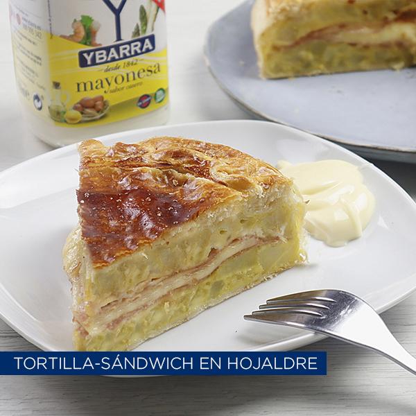 Tortilla rellena en hojaldre