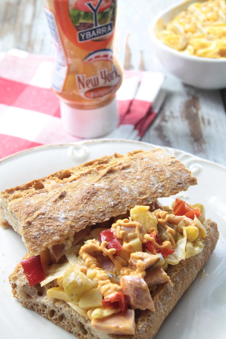Receta Bocadillo Gourmet New York Ybarra - Ybarra en tu cocina